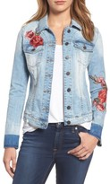 KUT from the Kloth Women's Lily Patch Detail Denim Jacket