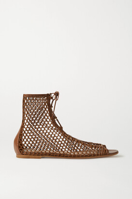Gianvito Rossi Leather-trimmed Mesh Sandals