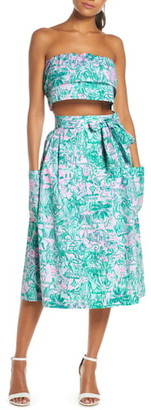 Lilly Pulitzer Lenora Bandeau Top & A-Line Skirt Set