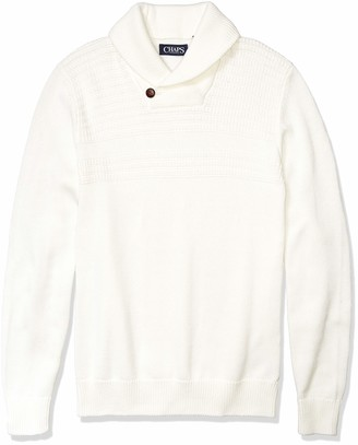Chaps Men's Soft Cotton Shawl Pullover Sweater