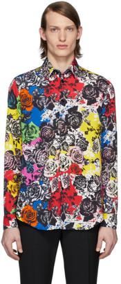 Versace Multicolor Flower Shirt
