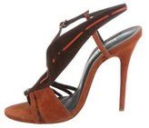 Jean-Michel Cazabat for Sophie Theallet Suede Slingback Sandals