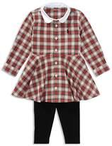 Ralph Lauren Girls' Tartan Shirt Dress & Leggings Set - Baby