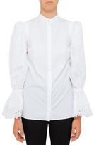 Alexander McQueen Cotton Popeline Shirt With Broderie