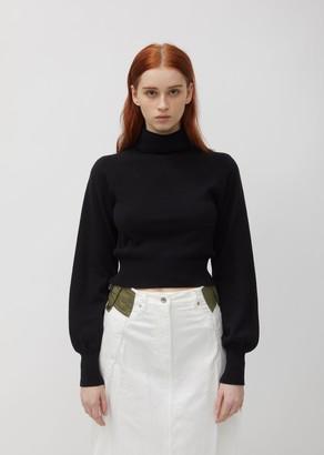 Sacai Cotton Knit Turtleneck Pullover