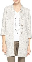 St. John Kira Tweed Knit Topper