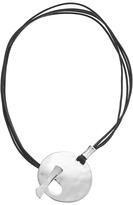 Robert Lee Morris Silver Disc Pendant Necklace