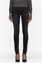 Mother Black The Looker Destroyed Ride Skinny Jeans