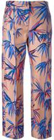 Emilio Pucci leaves print cropped trousers - women - Silk - 40