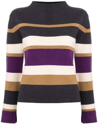 TOMORROWLAND striped slit sleeve jumper
