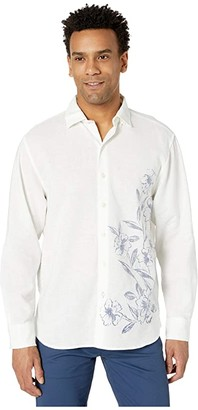 Tommy Bahama Ink Wash Floral Long Sleeve (Lychee) Men's Clothing