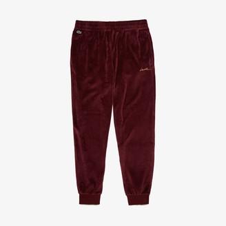 Lacoste Men's LIVE Golden Signature Velvet Sweatpants
