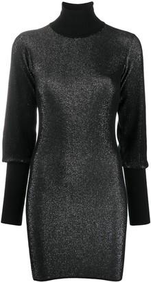 John Richmond Metallic Knit Dress