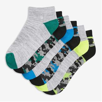 Joe Fresh Kid Boys' 6 Pack Low-Cut Socks, Grey (Size 11-2)