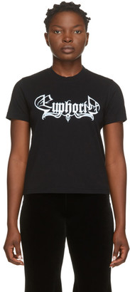 Vetements Black Euphoria Cropped T-Shirt