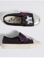 Marks and Spencer Kids' Star Sequin Fashion Trainers