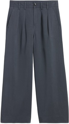 Banana Republic High-Rise Wide-Leg Pleated Ankle Pant