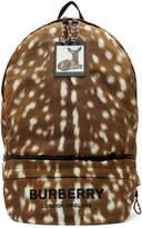 Burberry Brown Convertible Deer Print Backpack