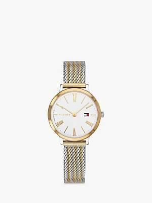 Tommy Hilfiger 1782055 Women's Casual Bracelet Strap Watch, Silver/Gold
