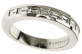 Tiffany & Co. 950 Platinum Channel Half Bucket Diamond Ring Size 5.25