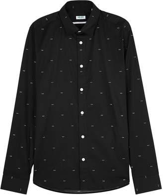 Kenzo Black Printed Poplin Shirt