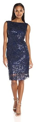 Brianna Women's Raised Ribbon and Sequin Embellished Shift Dress