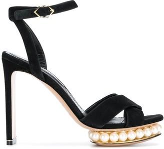 Nicholas Kirkwood Casati pearl platform sandals