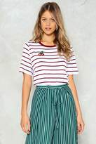 Nasty Gal nastygal Cherry Oh Baby Striped Tee