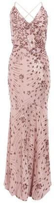 Dorothy Perkins Womens Quiz Pink Sequin Cross Back Maxi Dress, Pink