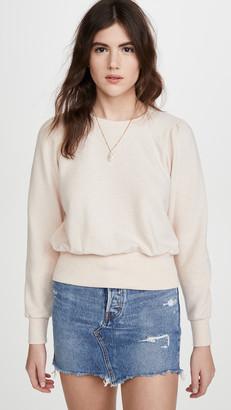 Madewell Heathered Puff Sleeve Raglan Sweatshirt