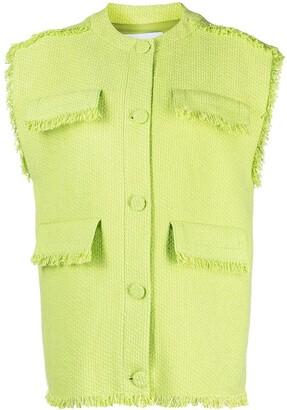 MSGM Fringed Sleeveless Jacket