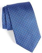 David Donahue Men's Neat Silk Tie