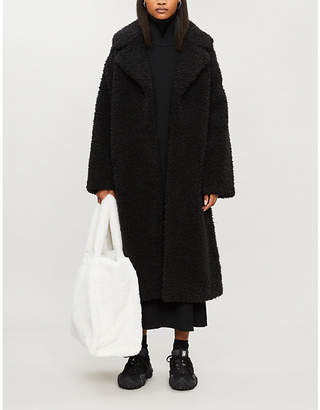 STAND Clara teddy faux-fur coat