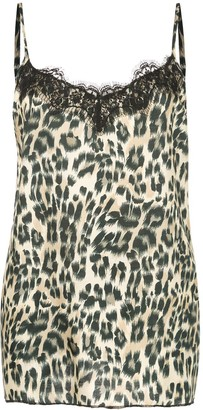 Icons leopard slip top