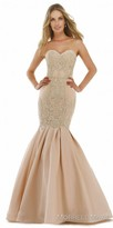 Morrell Maxie Strapless Rhinestone Embroidered Mermaid Prom Dress