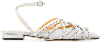 Giannico Daisy glitter sandals