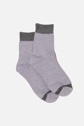 Rubi Sparkle Rib Sock