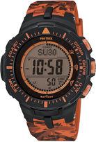 Casio Pro Trek Tough Solar Triple Sensor Mens Orange Camo Sport Watch PRG300CM-4