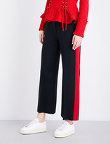 Alexander McQueen Tuxedo striped wide loose-fit wool-blend trousers