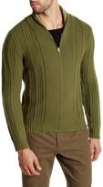 Gant Green Thumbs Zip Up Cardigan
