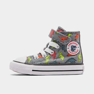 Converse Boys' Toddler Chuck Taylor All Star Dinoverse Hook-and-Loop High Top Casual Shoes
