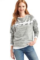 Gap Relaxed yoke-stripe pullover sweatshirt