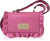RED Valentino Pink Sunrise Leather Rock Ruffle Crossbody Bag