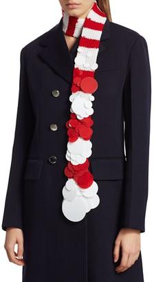 Prada Cashmere Knit Paillette Scarf