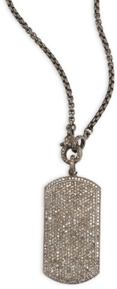 Nina Gilin Diamond Dog Tag Necklace