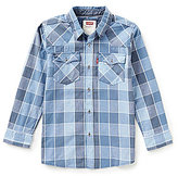 Levi's Big Boys 8-20 Barstow Plaid Western Shirt