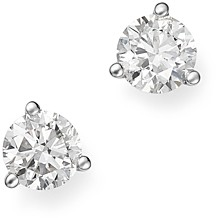 Bloomingdale's Diamond Stud Earrings in 14K White Gold 3-Prong Martini Setting, 0.90 ct. t.w. - 100% Exclusive