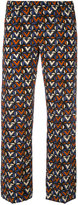 Aspesi tile print cropped trousers - women - Silk - 48