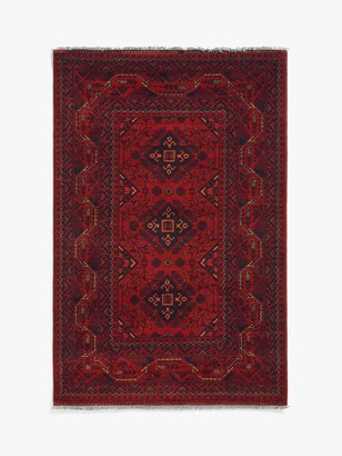 Gooch Luxury Hand Knotted Khal Mohammadi Rug, Red