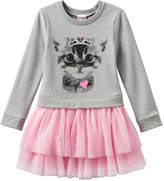 Nannette Toddler Girl Glitter Princess Crown Cat Tutu Dress